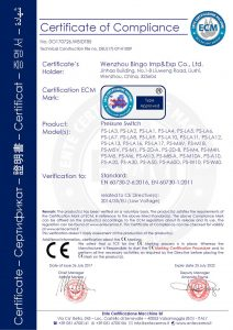 CE til trykafbryder