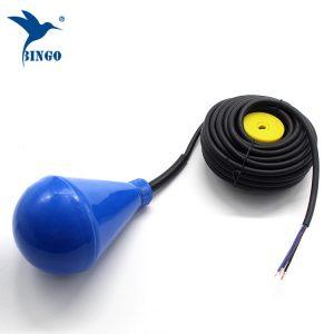 Subuliform formet vandtank niveau float switch med PVC kabel
